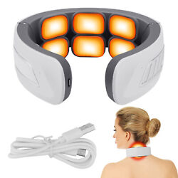 Electric Cervical Neck Massager Heating Shoulder Body Pain Relief Muscle Relax