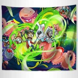 dorm tapestry trippy psychedelic art rick morty wall tapestry