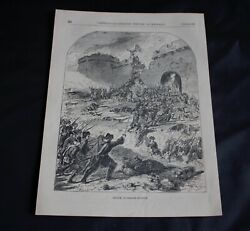 Antique Book Engraving And039attack On Bergen Op Zoomand039 Page Size 10 X 7