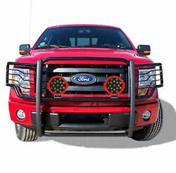 Black Horse Grille Guard Kit Set Of 7 Red Led Fit 11-16 Ford F-25/35/45/550sd