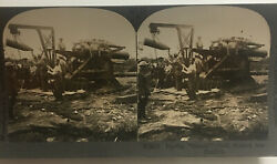 Wwi World War I Doughboy's Soldiers Grannie Shell Cannon Stereoview