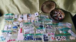 Hundreds Of Vintage Buttons 2.5 Lbs In Vintage Round Metal Storage Container