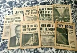 Antique Rare 1940s Original Vintage Newspapers Ny Times Daily News Collectibles
