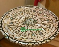 24and039and039 Marble Table Top Center Coffee Home Decor Inlay Pietra Dura Antique H23