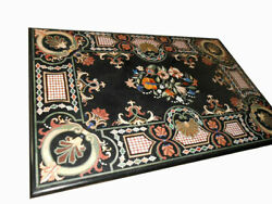 60 Marble Dining Table Top Inlay Rare Semi Antique Center Coffee Table Ar0346