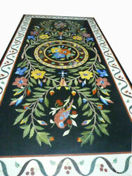 60 Marble Dining Table Top Inlay Rare Semi Antique Center Coffee Table Ar0348
