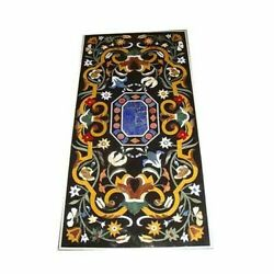 60 Marble Dining Table Top Inlay Rare Semi Antique Center Coffee Table Ar0350