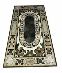 60 Marble Dining Table Top Inlay Rare Semi Antique Center Coffee Table Ar0351