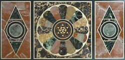 60 Marble Dining Table Top Inlay Rare Semi Antique Center Coffee Table Ar0352