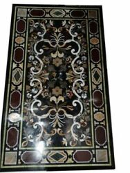 60 Marble Dining Table Top Inlay Rare Semi Antique Center Coffee Table Ar0355