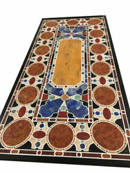 60 Marble Dining Table Top Inlay Rare Semi Antique Center Coffee Table Ar0359