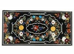 60 Marble Dining Table Top Inlay Rare Semi Antique Center Coffee Table Ar0364