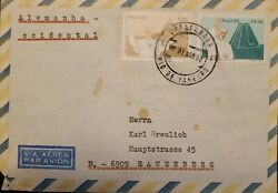 A 1980 Brazil From Rio De Janeiro To Germany Airmail Pope Juan Pablo Ii