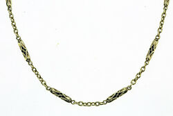 Antique Collectible Vintage 14k 585 Yellow Gold Pocket Watch Fob Chain 14