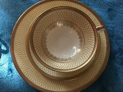 Thomas Of Germany Cup Saucer Dessert Plate Gold Trimmed And Ornate