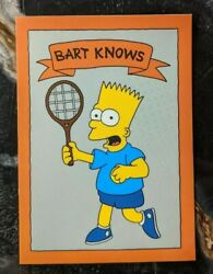1993 The Simpsons - Oddball / Promo Trading Card - Bart Knows Tennis