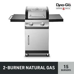 Dyna-glo Premier 2 Burner Stainless Steel Natural Gas Outdoor Bbq Grill