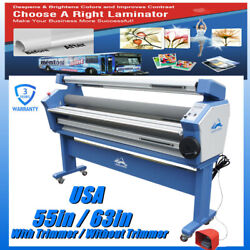 Usa 55/63in Large Cold Laminator Roll To Roll Laminating Machine, Trimmer Option