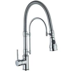 Bathroom Kitchen Sink Faucet Tap Swivel Spring Spout Mixer Brass Single Handle