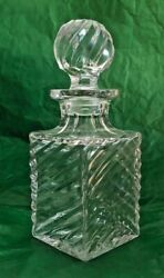 Vintage Lead Crystal Decanter Circa 1890and039s
