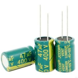 400v 47uf High Frequency Low Esr Radial Electrolytic Capacitors 105anddegc 16x25mm