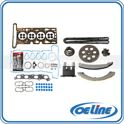 Head Gasket Set W/ Timing Chain Kit For 04-06 Chevrolet Gmc Canyon Isuzu 2.8l