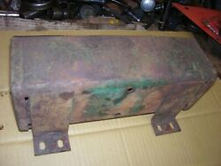 Vintage Oliver 77 Diesel Row Crop Tractor -tool Box And Cover - As - Is