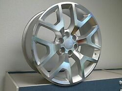 Fits 22 Honeycomb Silver Machine All Season Tires Wheels For Cadillac Escalade