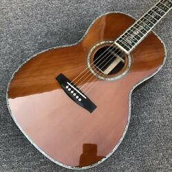 Custom Solid Acoustic Guitar Cedar Top 00045 Model Red Pine 100 All Abalone New
