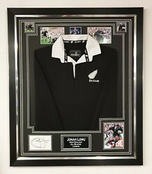 Jonah Lomu Signed Autographed Display With Shirtall Blacks Jersey Framed Display