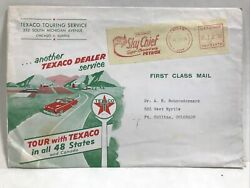 1954 Texaco Touring Service In All 48 States First Class Envelope Skychief Stamp