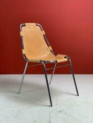 1970s Brown Leather Charlotte Perriand Les Arcs Chair Midcentury Vintage 2867