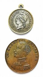 Set 2 Medals France 1855 And 1870. Ref63022