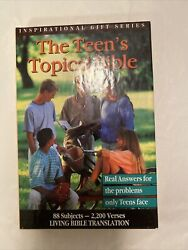 The New Teen's Topical Bible, New In Box, Leatherbound.