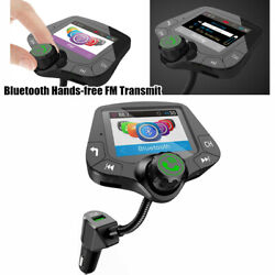 Car Mp3 Hands-free Fm Transmitter Bluetooth Mp3 Radio Adapter Kit Usb Charger