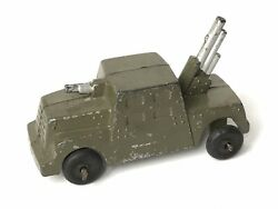 Vintage Metal Military Armoured Car Truck With Gun Model Barclay Type C.1930/40s