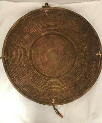 Antique Woven Large Basket With Handle Asian Native American African