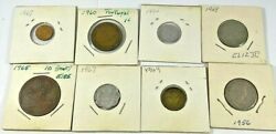 8 Piece Lot Of Assorted Foreign Coins