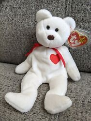 Valentino Bear Ty Beanie Baby 4th Generation 1993 W/tag Errors Brown Nose