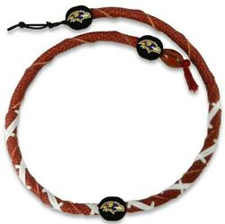 Baltimore Ravens Classic Spiral Football Necklace [new] Nfl Jewelry Leather