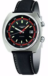 Longines Heritage Diver Black And Red Dial Men's Watch L2.795.4.52.0
