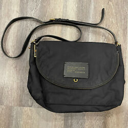 Marc By Marc Jacobs Nylon Crossbody Bag Medium Black Gold Zippers $39.99