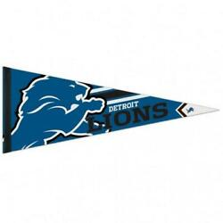 Detroit Lions 12x30 Premium Wool Pennant New Nfl Sign Banner Wall Cave