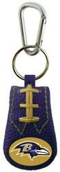 Baltimore Ravens Color Leather Football Keychain [new] Nfl Key Chain Jewelry
