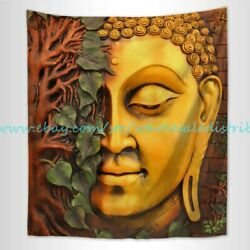 Lord Buddha nature tree leaf wall tapestry shabby chic wall decor