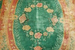 C1920s Antique Mint Art Deco Chinese Walter Nichols Rug 4and039 X 6and0391 Free Shipping