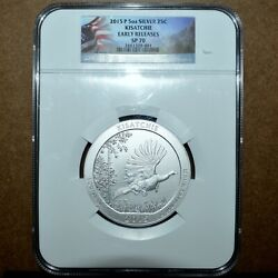 2015-p 5 Oz Silver Atb ✪ Kisatchie Ntl Park ✪ Ngc Sp-70 Early Release ◢trusted◣