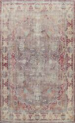 Antique Muted Dynasty Historical Traditional Area Rug Distressed Handmade 9x12