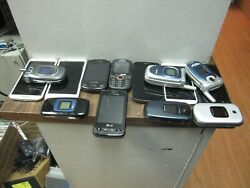 Bundle Lot Of 13 Used Cell Phones All Verizon Flip Droid 4g Slide