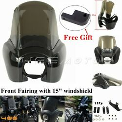 For Harley Fat Bob Fxdf Low Rider Fxdl 06-2017 T-sport Headlight Front Fairing